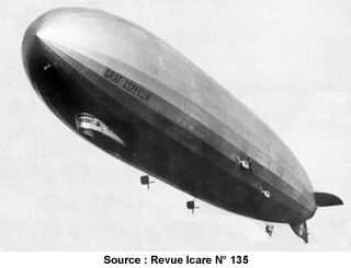 Zeppelin graf en vol