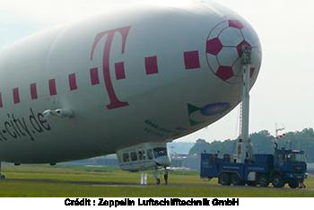 ballon dirigeable poids