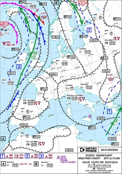 Cartes météorologiques TEMSI